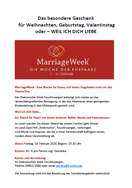 Marriage Week 2020